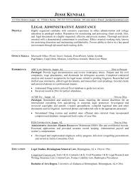 resume description for secretary secretary resume example