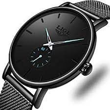 LIGE <b>Men's Watches Fashion</b> Luxury Minimalist Analog Quartz Wrist ...