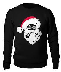 <b>Свитшот унисекс хлопковый</b> Дед Мороз с трубкой #2613220 от ...