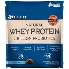 MRM, <b>Natural Whey Protein</b>, <b>2</b> Billion Probiotics, Dutch Chocolate, 5 ...