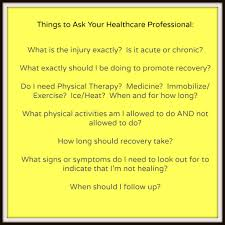 tips to survive and thrive after a fitness injury live well  questions to ask askyourhcprofessionalyellow zpsb1f6b9aa