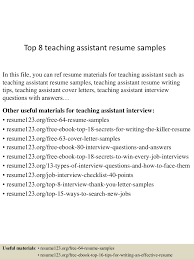 resume sample of teacher assistant cipanewsletter