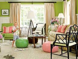 bold sunny house with cozy living room colorful warm green themes living room design with astonishing colorful living