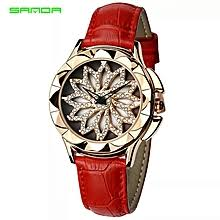 Buy <b>Sanda Women's</b> Leather Strapwatch online at Best Prices in ...
