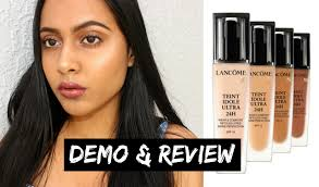 lane teint idole ultra 24h foundation demo review acne e skin