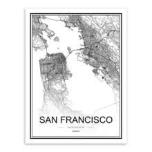 <b>Black</b> and <b>White World City</b> Map Posters – Canvas Art Boutique