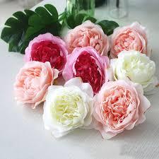 10pcs <b>High Simulation Core Peony</b> Flower Head Silk Flower DIY ...