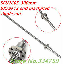 <b>SFU1605 300mm Ball Screw</b> Rolled C7 <b>ballscrew SFU1605</b> L ...