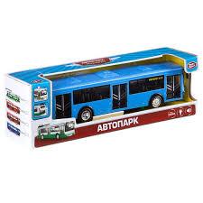 Инерционная пластмассовая <b>машина</b>,М1:43, свет/звук, <b>Автобус</b> ...