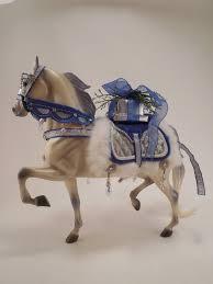 2006 Breyer Christmas Horse <b>Snow Princess Blue</b> Silver White ...