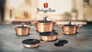 Berlinger Haus Metallic Line <b>Rosegold</b> Edition <b>10 Pcs</b> Cookware Set ...