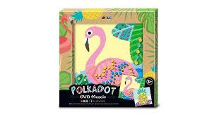 Avenir - Polkadot <b>EVA Mosaic</b> - Flamingo - Matt Blatt