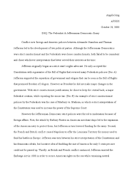 democratic republicans vs federalists essay  democratic republicans vs federalists essay
