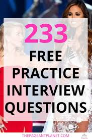 17 best ideas about practice interview questions 233 practice pageant questions