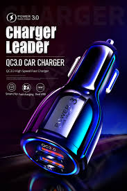 <b>Olaf Car Charger</b> for Mobile Phone Quick Charge 3.0 USB Charger ...