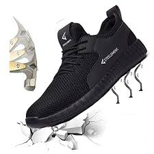 Hongchengye Steel Toe Shoes <b>Mens</b> Safety Work Industrial ...