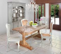 Farm Tables Dining Room Dining Trestle Table Dining Room Shabby Chic With Cabinet