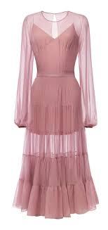Платье с пышной <b>юбкой</b> ярусами ниже колена из шифона ...
