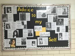 best ideas about school counselor office high school counselor bulletin board advice to my high school self ask staff for their advice