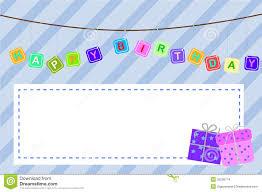 template baby birthday greeting card stock images image 35296774 template baby birthday greeting card
