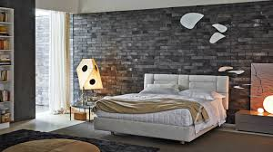 modern bedroom concepts: view in gallery modern bedroom with exposed grey brick molteni nature