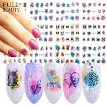 Акварельные <b>наклейки для ногтей</b>, 12 дизайнов, наклейки для ...