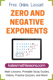 best ideas about simplifying exponents algebra need help zero or negative exponents this math lesson explains what to do