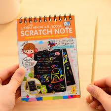 SPL-10 Pages/<b>1 Book Colorful Dazzle</b> Scratch Note Sketchbook ...