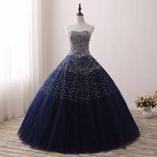 2019 <b>Navy Blue Quinceanera</b> Dresses for 15 years Backless ...