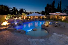 the roggemann family has a beautiful beautiful lighting pool