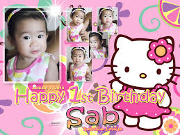 tarpaulin design cebu balloons and party supplies sab s 1st birthday hello kitty