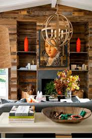 size fireplace brick home decor photos hgtv rustic wood wall with fireplace and built in shelves home