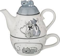 <b>Набор чайный</b> Agness <b>Ля Мур</b>, 490-290, белый, 2 предмета