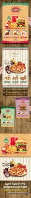 a restaurant flyer templates on graphicriver fast food flyer menu restaurant a4