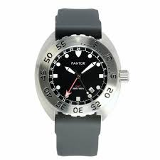 Pantor Nautilus GMT - Dual-Time-Display With <b>Stainless Steel Bezel</b> ...