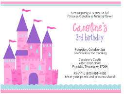 princess birthday invitations card invitation ideas card 3rd princess birthday invitations