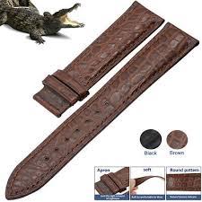<b>ZLIMSN Crocodile Alligator</b> Leather Watch Band <b>Genuine</b> Strap ...