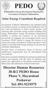 solar energy consultant jobs at pakhtunkhwa energy development get jobs in email