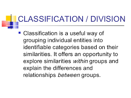 technical report     CLASSIFICATION   DIVISION    Classification
