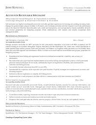 receivable resume accounts receivable resume