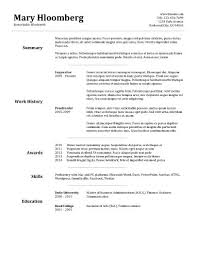free resume template resume examples word