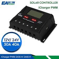EASUN POWER <b>Solar Charge Controller</b> 30A 40A <b>PWM Solar</b> ...
