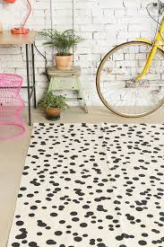 black white dot rug i love the idea of using your bike as a black white rug home