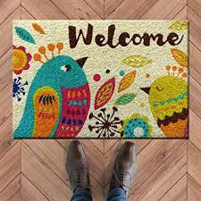 Buy Atmah Birdy Welcome Coir Door Mat, Size <b>40 X 60</b> Cm Online ...