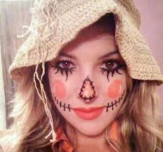 this rosy cheeked scarecrow look is adorable