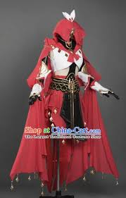 Chinese Ancient Cosplay Female General Heroine <b>Red</b> Dress ...