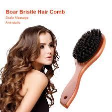 Massage <b>Comb Anti static</b> Portable <b>Natural</b> Boar Bristle Hairbrush ...