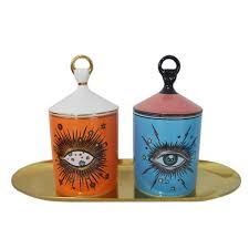 <b>Big Eye Starry Sky</b> Incense Candle Holder With Hand Lid ...