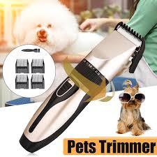 <b>Electric Pet Dog Cat</b> Hair <b>Trimmer Grooming Clipper</b> Shaver Razor ...