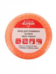 Купить <b>Леска для триммера Elitech</b> 2mm x 15m 0809.006000 по ...